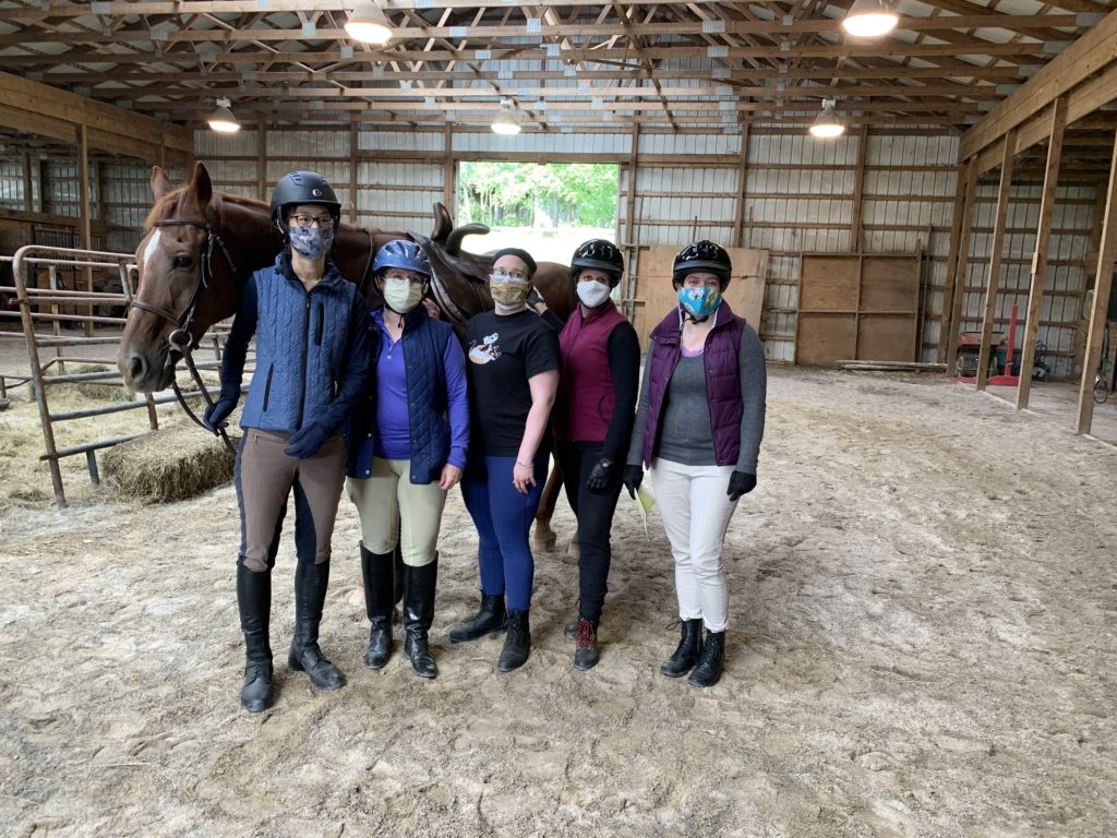 Group photo of the Side Saddle Clinic participants